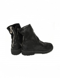 Black leather ankle boots 796V Guidi price