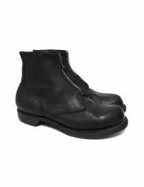 Mens shoes online: Cordovan leather ankle boots 5305FZ Guidi