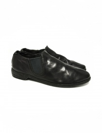 Mens shoes online: Black leather Guidi 109 shoes