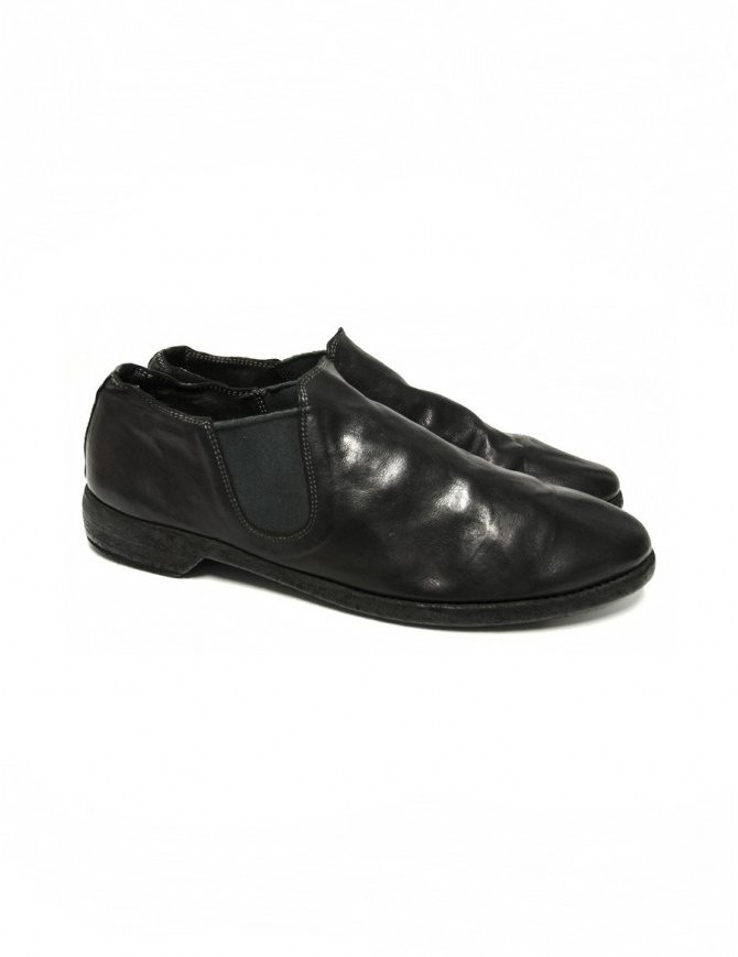 Black leather Guidi 109 shoes 109 BLKT mens shoes online shopping