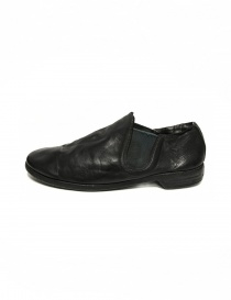 Black leather Guidi 109 shoes