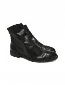 Mens shoes online: Black leather ankle boots 0X08A Guidi