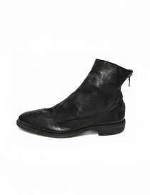 Black leather ankle boots 0X08A Guidi mens shoes buy online