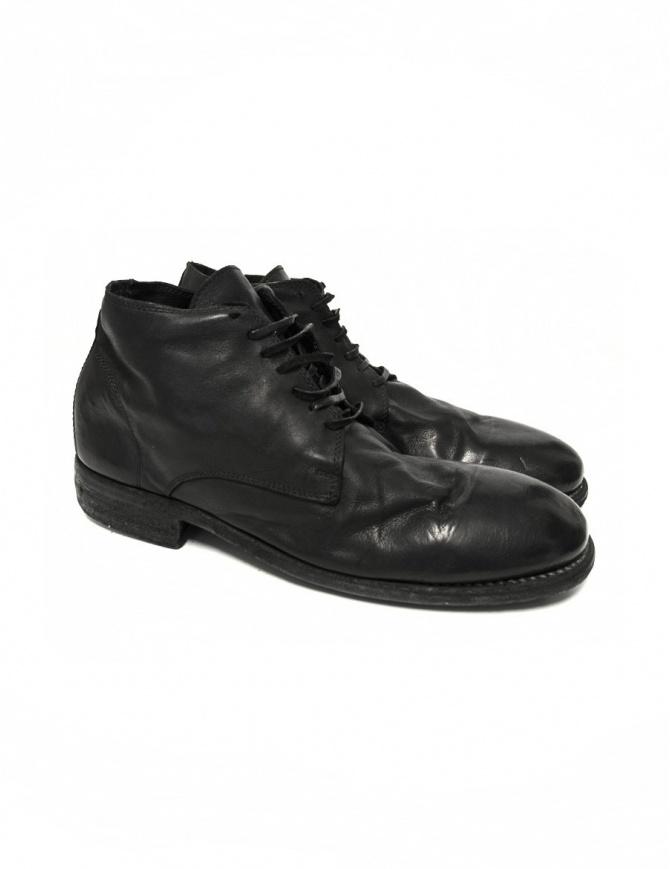 Black leather Guidi 994 shoes 994-KANGAROO mens shoes online shopping
