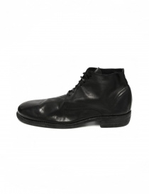 Black leather Guidi 994 shoes buy online