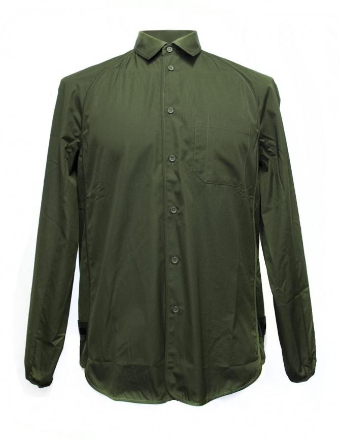 Camicia OAMC verde militare con bordo elastico I022288 GREEN camicie uomo online shopping