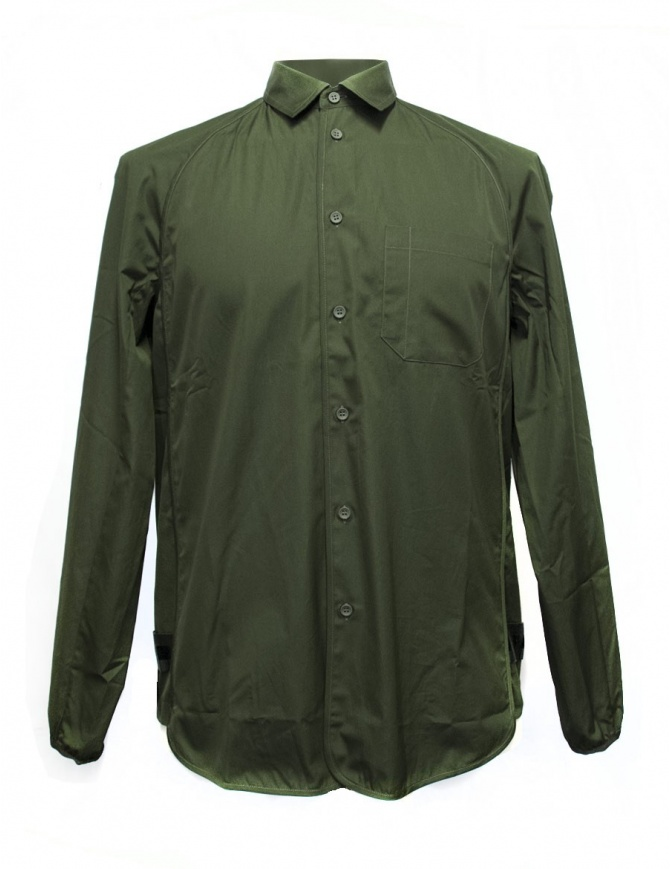 OAMC army green shirt with elastic bottom I022288 GREEN mens shirts online shopping