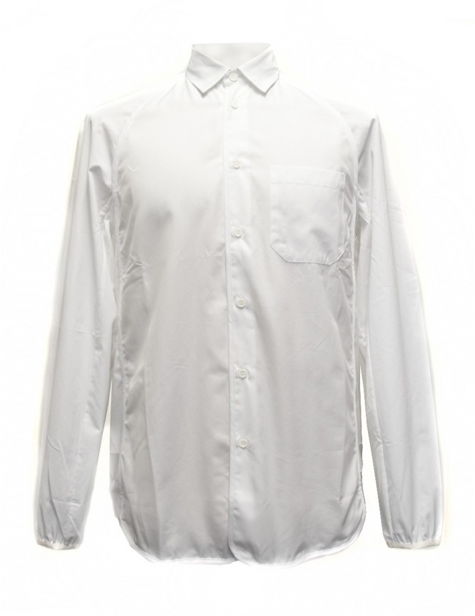 OAMC white shirt with elastic waist and cuffs I022288 WHT mens shirts online shopping