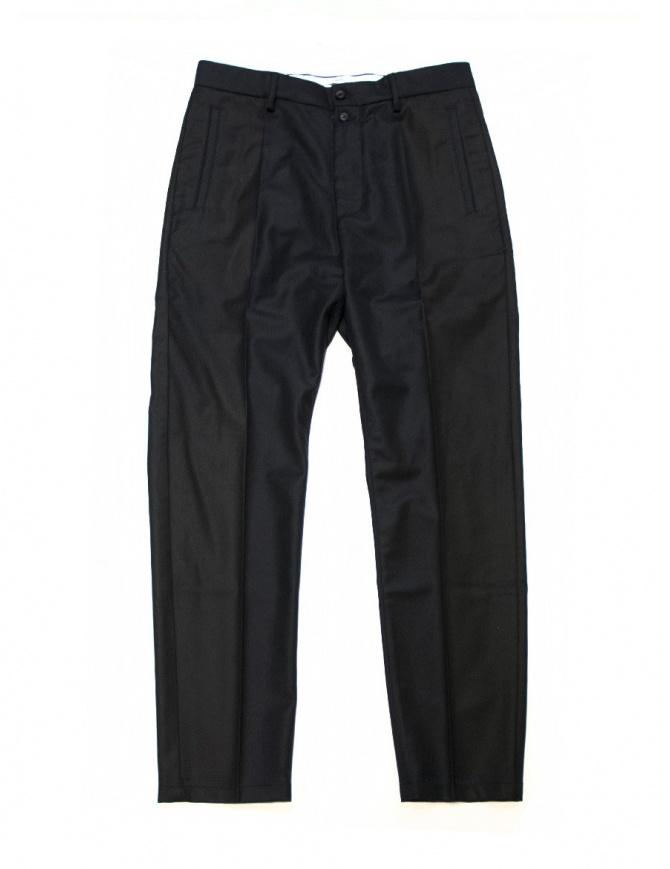 Pantalone OAMC blu navy in lana I022280 NAVY pantaloni uomo online shopping