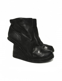 Black leather ankle boots 6006V Guidi online