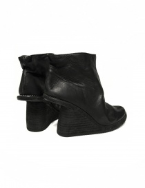 Black leather ankle boots 6006V Guidi