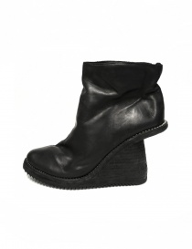 Black leather ankle boots 6006V Guidi womens shoes buy online