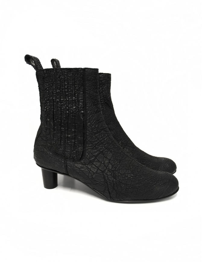 Barny Nakhle black leather ankle boots BENNY-CALF-C womens shoes online shopping