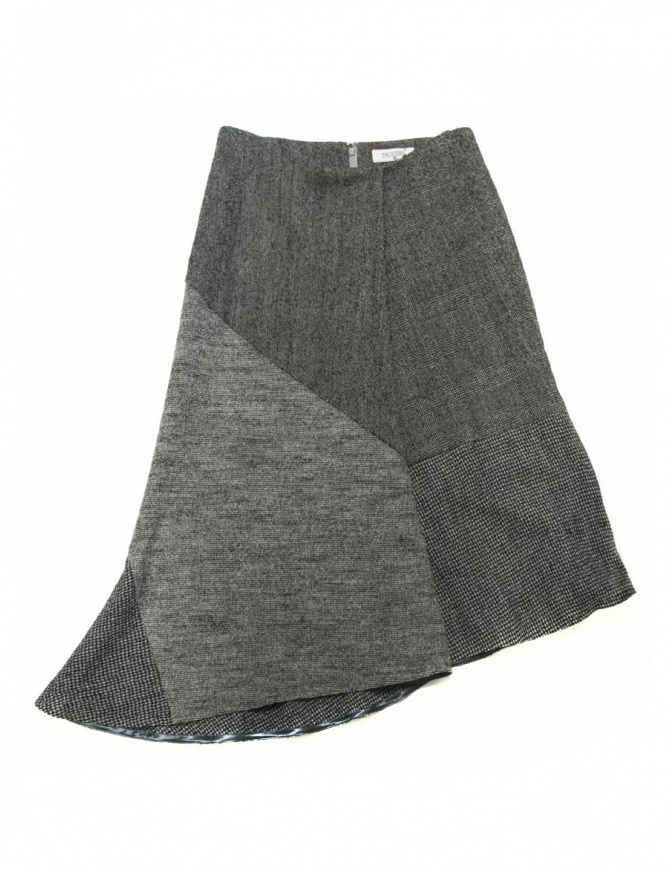 Fadthree grey asymmetric skirt 14FDF01-01-2 womens skirts online shopping