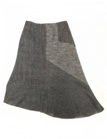 Fadthree grey asymmetric skirt