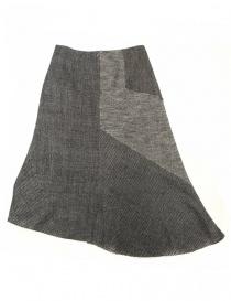 Gonna asimmetrica Fadthree colore grigio