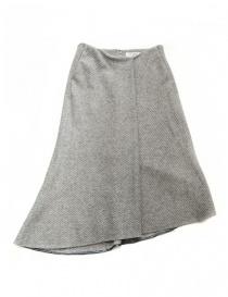 Gonna asimmetrica Fadthree colore grigio chiaro online