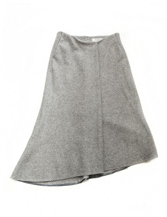 Fadthree light grey asymmetric skirt 14FDF01-01-1 womens skirts online shopping