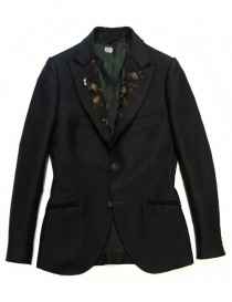 Womens suit jackets online: Maurizio Miri jewel black suit jacket
