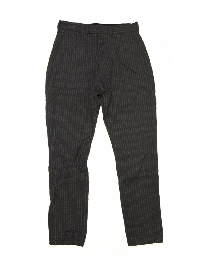 Casey Casey grey pinstriped trousers 07HP79-GREY mens trousers online shopping