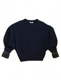 Womens knitwear online: Harikae navy sweater