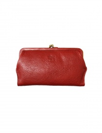 Red leather wallet Il Bisonte online