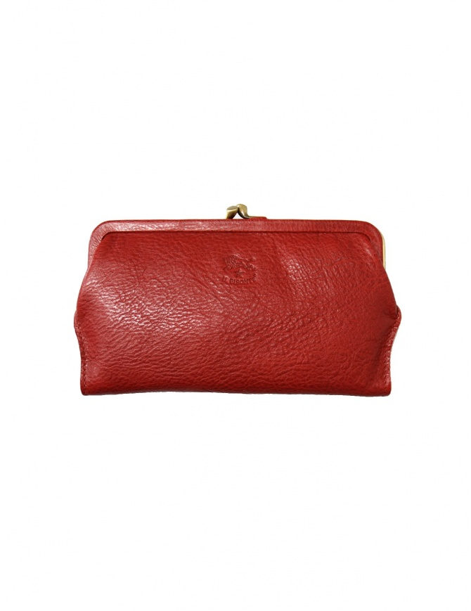 Red leather wallet Il Bisonte C0671 P 245 wallets online shopping