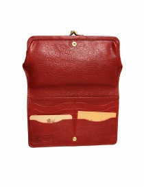 Red leather wallet Il Bisonte price