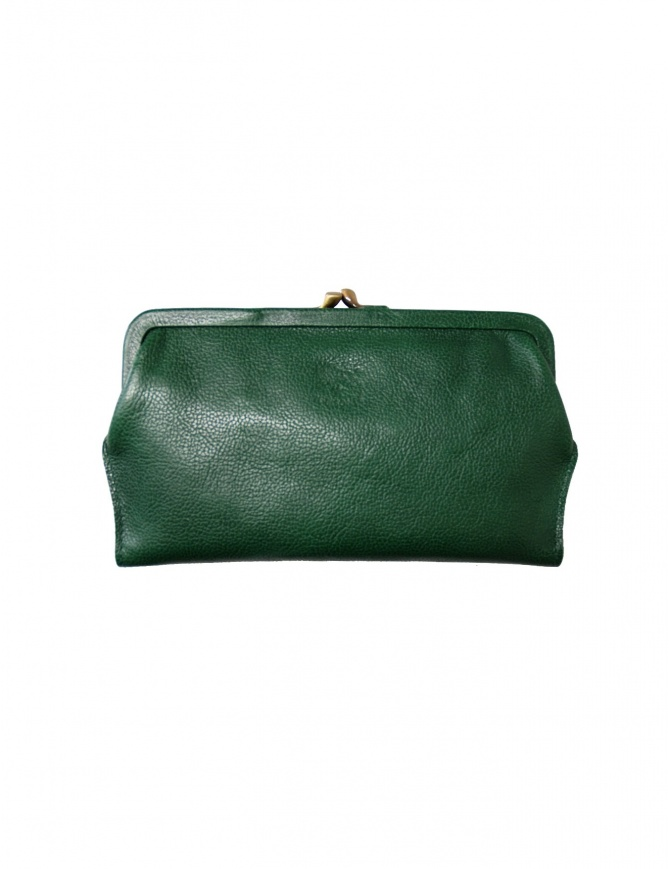 Green leather wallet Il Bisonte C0671 P 293 wallets online shopping