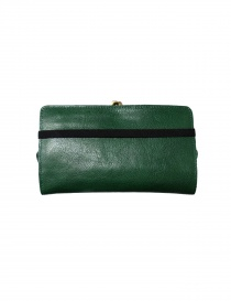 Green leather wallet Il Bisonte buy online