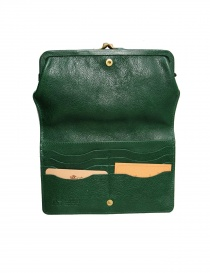 Green leather wallet Il Bisonte price