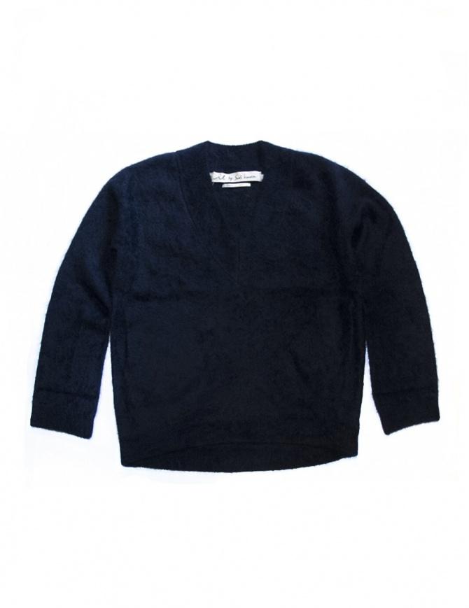 Maglia abito IL by Saori Komatsu colore navy 428-31-ABITO maglieria donna online shopping