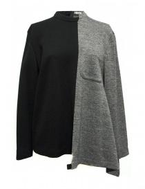 Maglia Fad Three colore nero e grigio 14FDF07-042- order online