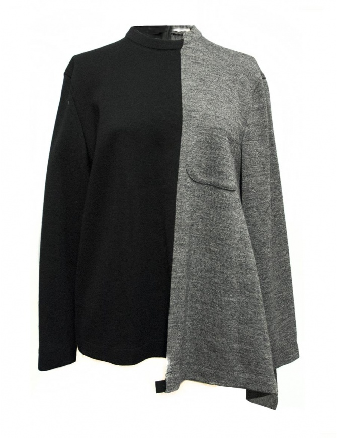 Fad Three black and grey sweater 14FDF07-042- womens knitwear online shopping