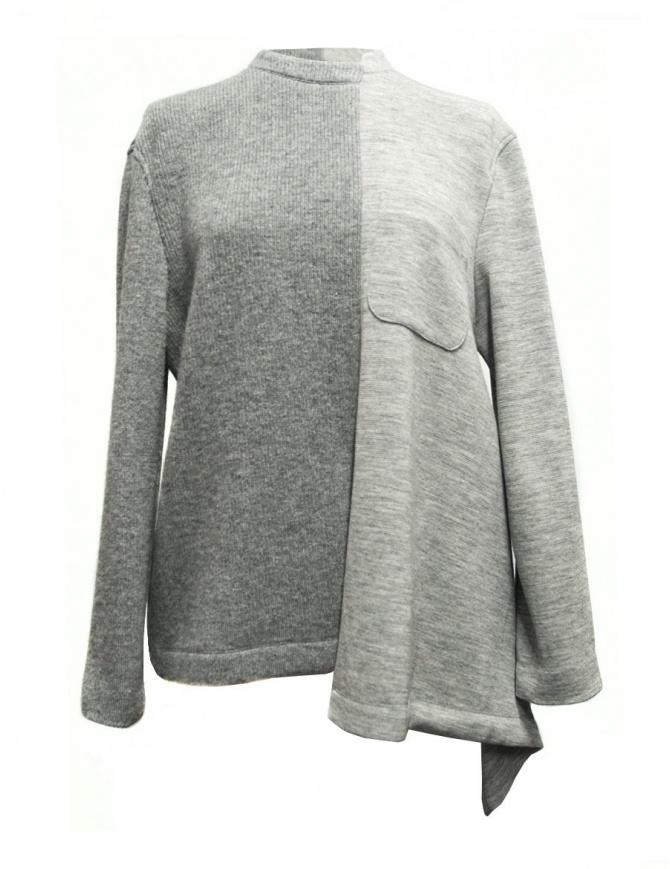 Maglia Fad Three colore grigio 14FDF07-04-1 01 GRAY maglieria donna online shopping