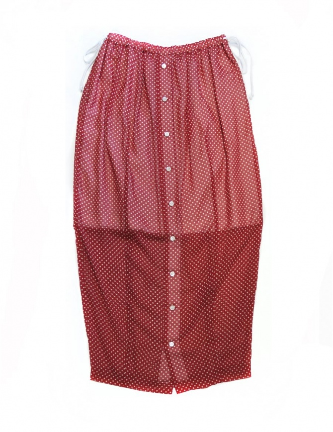 Gonna rossa a pois Miyao ML-S-02-RED- gonne donna online shopping