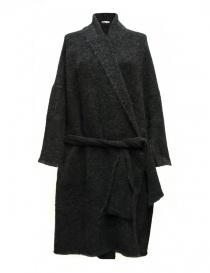 Cardigan lungo IL by Saori Komatsu colore grigio scuro 403-11-CARDU order online