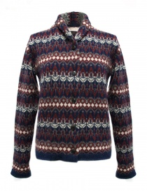 Cardigan Casa Isaac colore blu rosso online