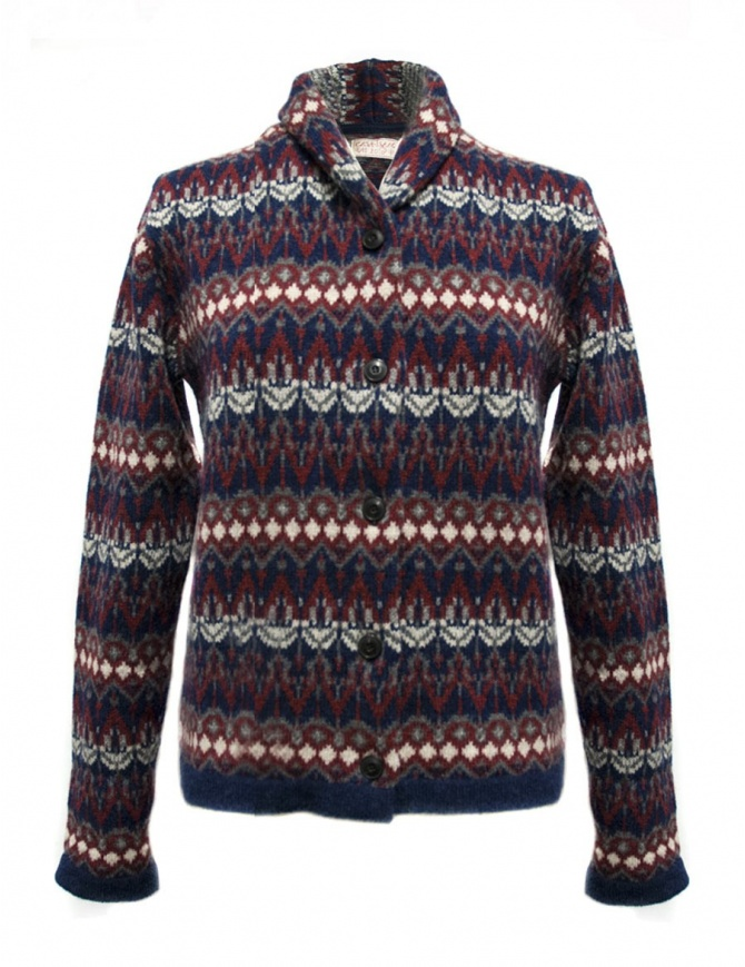 Cardigan Casa Isaac colore blu rosso HH10-W-BLU-R cardigan donna online shopping
