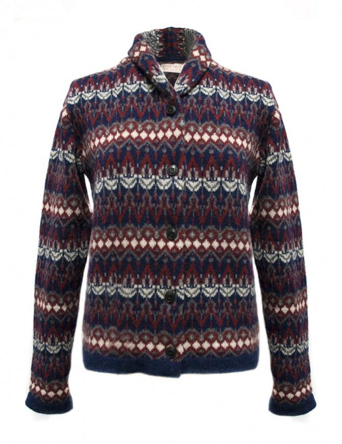 Casa Isaac blue red cardigan HH10-W-BLU-R womens cardigans online shopping