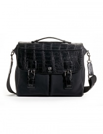 Alligator black leather Tardini briefcase online