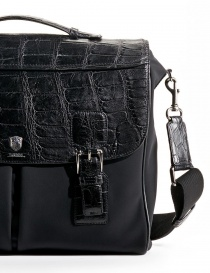 Alligator black leather Tardini briefcase buy online
