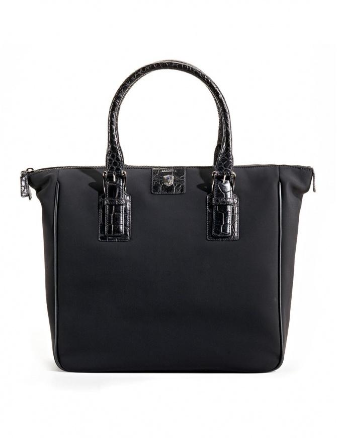 Borsa shopper Tardini in pelle di alligatore colore nero A6T231N30 borse online shopping