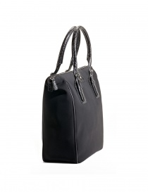 Borsa shopper Tardini in pelle di alligatore colore nero