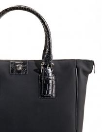 Alligator black leather Tardini shopper bags buy online
