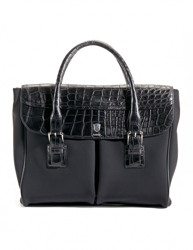 Alligator black leather Tardini shopper briefcase A6T232N30 bags online shopping