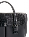 Alligator black leather Tardini shopper briefcase A6T232N30 buy online