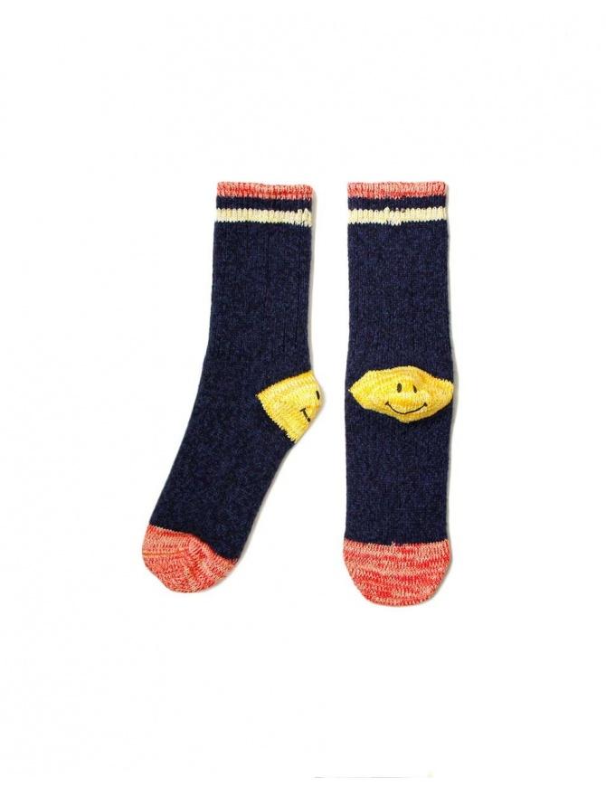 Kapital navy socks EK-415-NAVY socks online shopping
