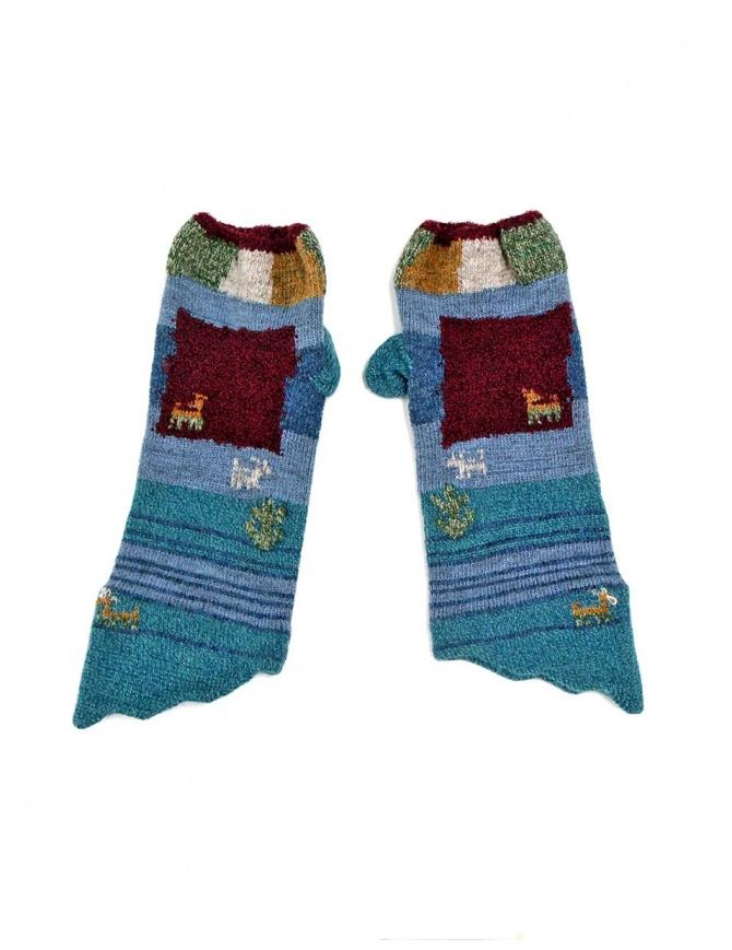 Guanto Kapital blu/rosso EK-511 BLUE guanti online shopping