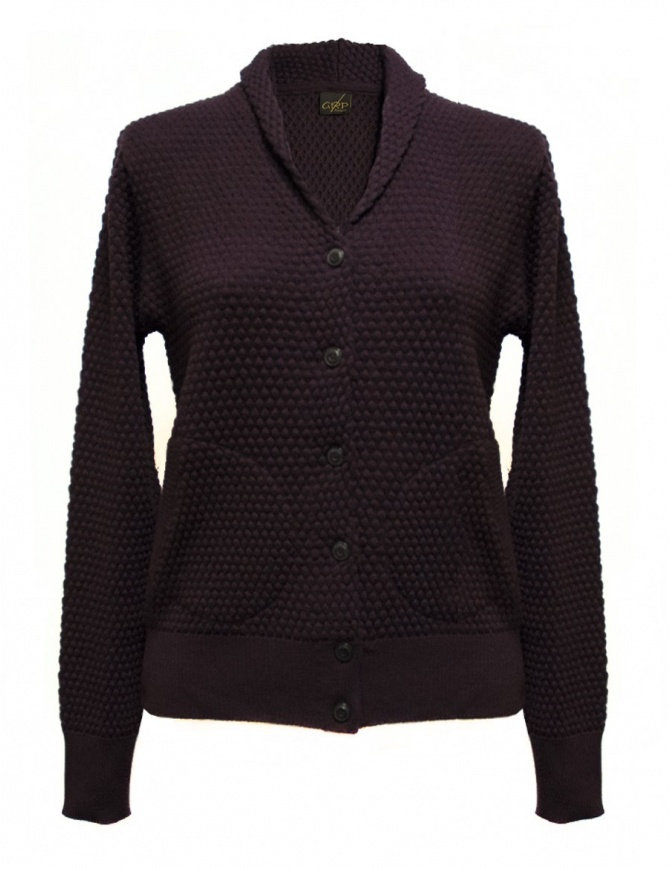 Cardigan GRP colore prugna SFTEC2-W-PRU cardigan donna online shopping